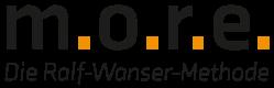 zeigt das Logo von more und den Slogan